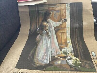 MARGOT TAPESTRY NEEDLEPOINT canvas only, image area 36x47 cm NWOT made in France