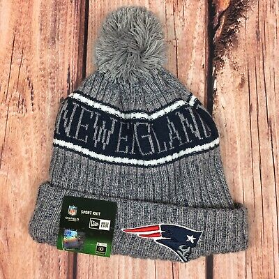 b49d5856668 New England Patriots New Era 2018 NFL Sideline Cold Weather Official Sport  Knit