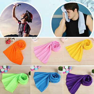 Women Men  Ice Cold Running Jogging Gym Chilly Pad Instant Cooling Towel Sports