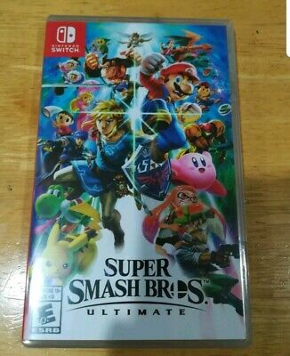 SUPER SMASH BROS ULTIMATE Switch Replacement Official Case & Cover Art *NO GAME*