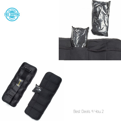 ADJUSTABLE ANKLE WEIGHTS Leg Wrist Arm Exercises Lower Body Training 5 Lb Pair