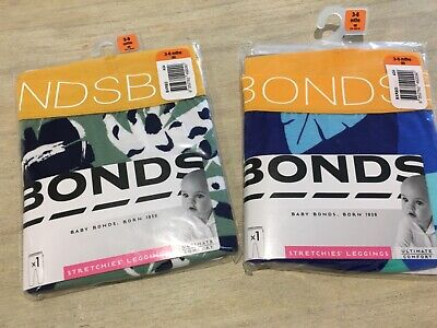 2 x BONDS leggings sz 00 jungle print NEW