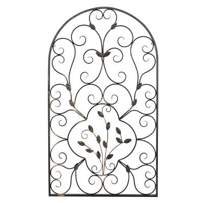 Leaf Wrought Iron Wall Rustic Art Plaque Vintage style