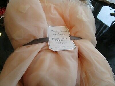 Pottery Barn Kids Monique Lhuillier Ethereal Tulle Crib Skirt New with tag
