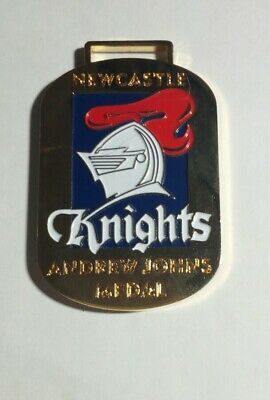 *rare* Newcastle Knights Rugby League Andrew Johns Brian Carlson Club Medallion