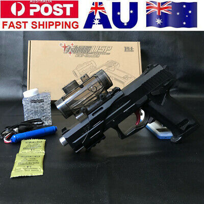 Electric USP Gel Ball Gun Pistol Toy Blaster Water Bullet Hopper-mag AU Stock