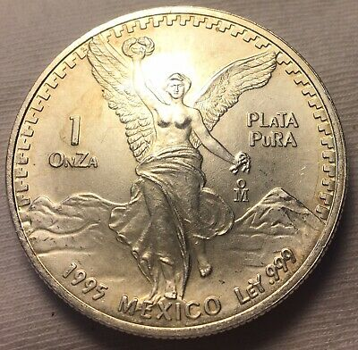 1995 Mexican Libertad! Bu! 1 Troy Oz Silver Round Coin Ounce 999 Fine Pure