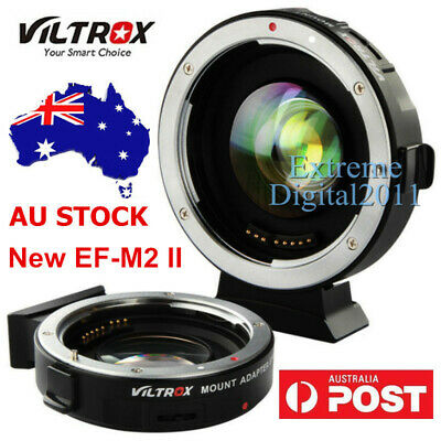 AU STOCK Viltrox EF-M2 II Auto Focus 0.71x Booster Adapter Canon EF Lens to M4/3