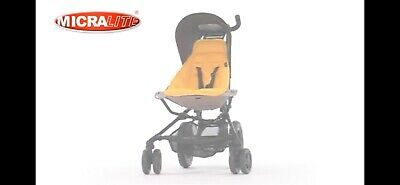 Micralite Fastfold Superlite Buggy - Yellow (excellent as holiday pram)