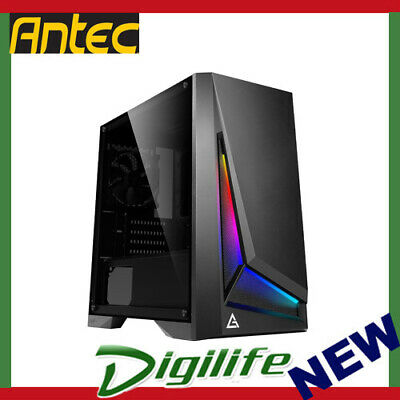 Antec DP301M mATX ARGB Front LED Tempered Glass Side Up to 6x 120mm Fans