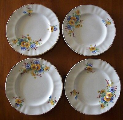 """""""J & G Meakin Sunshine Side Plates"""" , Four (4) Of C1950 , Excellent Condition !"""