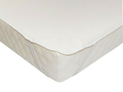 WATERPROOF MATTRESS PROTECTOR - Washable 100% Cotton Bed Pad, COT Bed 140x70cm