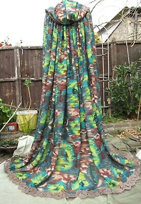 Hooded gown cape Boho Medieval LARP Mother earth Elf Fairy Festival Cosplay wear