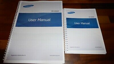 Printed Samsung Galaxy S5 Instruction Manual / User Guide SM-G900F Full Colour