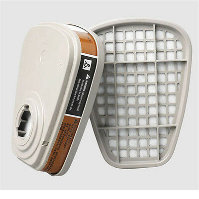 2pc 6001cn Organic Vapor Respirator Filter Cartridge For 3M 6800 6200 Gas Mask
