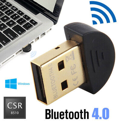 Wireless USB Bluetooth Adapter V4.0 Dongle Receiver For PC WIN XP/Vista/7/8/10