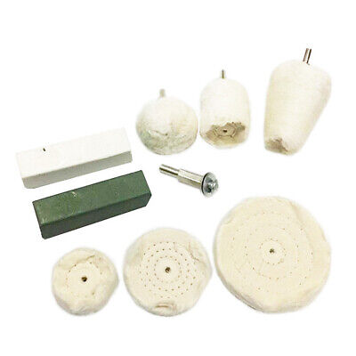 9x Polishing Buffing Kit for Aluminium Steel Brass Plastic for Drill Tools Decor