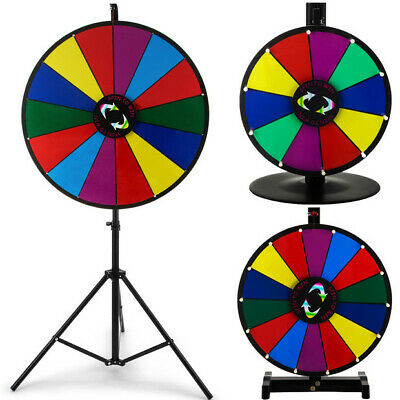 24/18/15 Color Dry Erase Prize Wheel + Stand Fortune Spinning Game Tradeshow