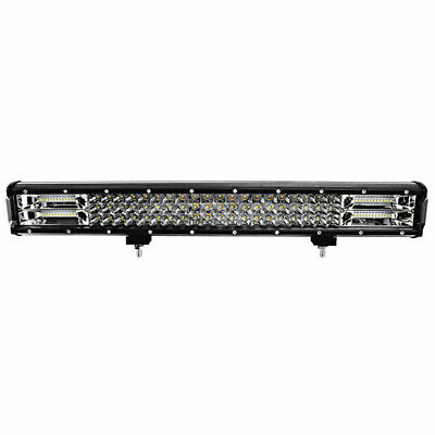7D Tri-Row 23Inch 324W LED Work Light Bar Flood Spot Combo Ford SUV 4WD Off road