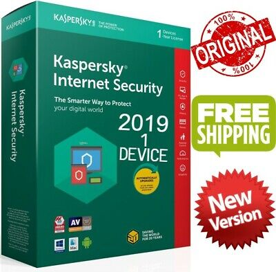 Kaspersky Internet Security 2019 Global Key/ 1 Device/ 1 year /PC-Mac-Android