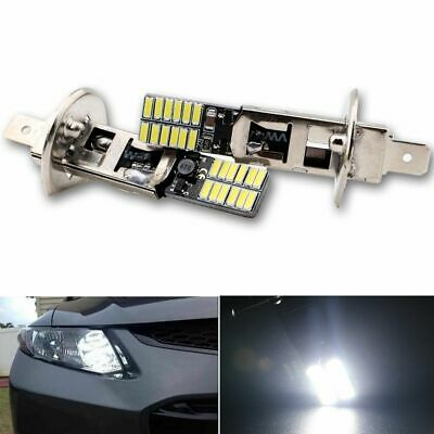 Vehicle White Auto Car Fog Light H1 6500K 24-SMD 4014 LED Bulb Driving DRL Lamp
