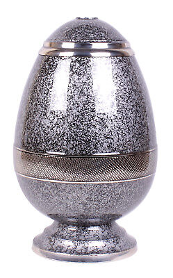 Adult Cremation Urn for Ashes Large Funeral Memorial urn Egg shape Grey urn NEW