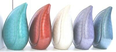 Adult Teardrop cremation urn for ashes Large Funeral Memorial urn multi colour