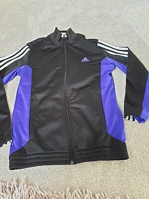 Adidas girls Tracksuit Zip Jogging  Gym Top Size 11 to 12 years