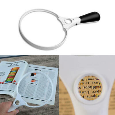 Extra Large Magnifying Glass 5.5in 2.5X Reading Round Magnifier Loop Loupe Black
