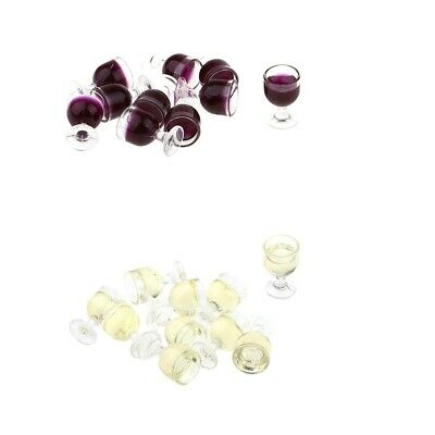 20Pieces Miniature Wine Glasses Handcrafted Goblets for 1/12 Scale Dollhouse