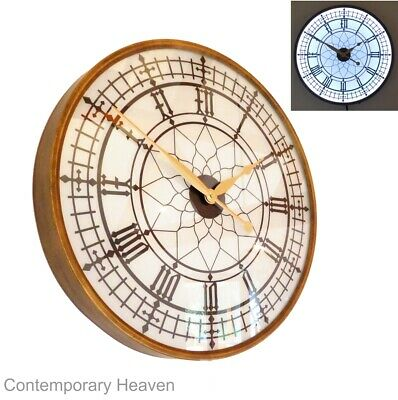 "Large Big Ben Illuminated Wall Clock Light 60cm 24"" Dia"