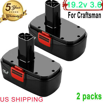 3600mAh 19.2v Replace for Craftsman Battery C3 130279005 1323903 1323517 2PCS