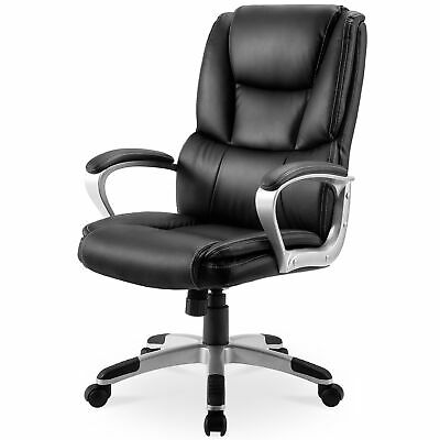 High-back Big and Tall Office Chair PU Leather Executive Chair w/ Lumbar Support