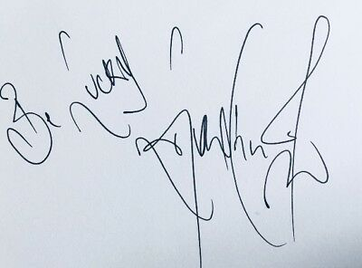 Linford Christie HAND SIGNED White Card - Olympic Gold Medal Sprinter *In Person