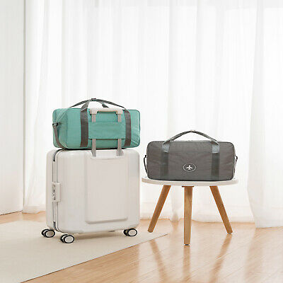 Rolling Waterproof Duffle Bag Carry On Luggage Travel Suitcase Trolley Tote