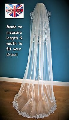 special order Bespoke Bridal Veil *Corded Lace Applique*