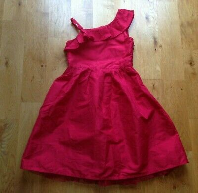 Girls GEORGE Red Taffeta Style Party Dress age 7-8 WORN ONCE!