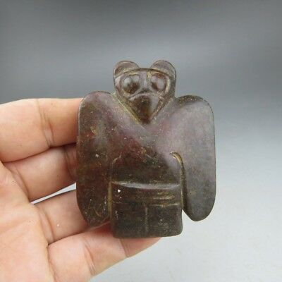 Chinese jade,collectibles,hand-carved,jade,Hongshan culture,eagle,pendant E607