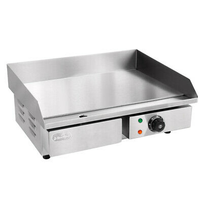 5 Star Chef Electric Grill Counter Top Hot Plate Commercial Grade Stainless