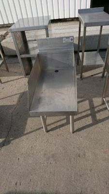 Used  Stainless Steel Stand Work Bench Prep Kitchen Food Restaurant
