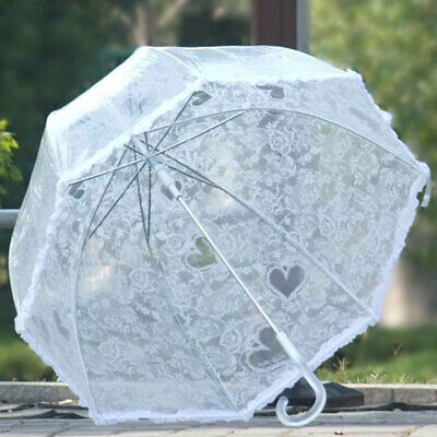 Lace Umbrella Arch Shaped Transparent Dome Frilly Wedding Decoration Parasols