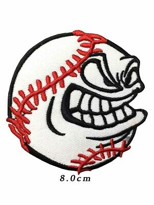 Baseball Ball Angry Sports Game Cartoon Iron on Patche Sew on Badge A715