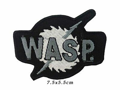 W.A.S.P Wasp Iron On Shirt Bag Patch sew Heavy Metal Embroidered badge A602
