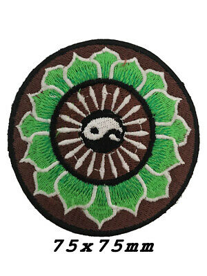 Yin Yang Tao Taoism Aum Ohm Om Lotus Peace Hippie Boho Iron-On Patches A1271