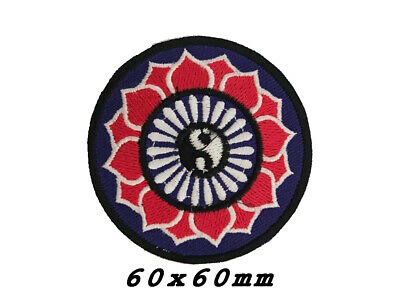 Yin Yang Tao Taoism Aum Ohm Om Lotus Peace Hippie Boho Iron-On Patch A1172