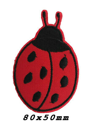 ladybug animal pair Iron on patches red Ø2cm Application badges