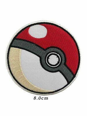 pokemon ball Embroidered boys game iron on patch sew on badge A1122