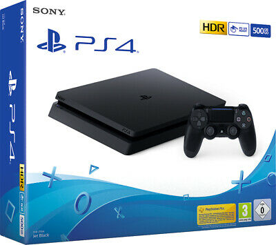 Console Sony Ps4 500Gb F Chassis Slim Black Play Station 4 Nero Videogames Gioco