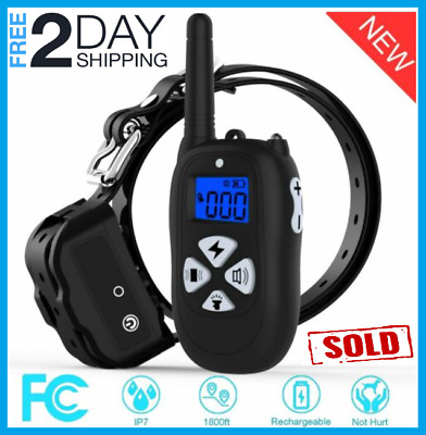 Dog Training Collar Remote 1800ft Rechargeable Waterproof Shock Collar Beep :)