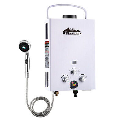 Weisshorn Portable Gas Hot Water Heater 480L H Shower Camping Caravan Shed